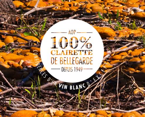 Logo et slogan pour le syndicat viticole de la Clairette de Bellegarde
